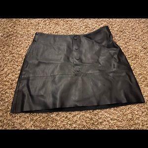 Zara Trafaluc faux leather mini skirt medium